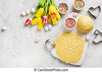 Baking cookies for Easter