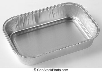 Baking foil plate isolated on white