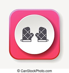 baking gloves icon