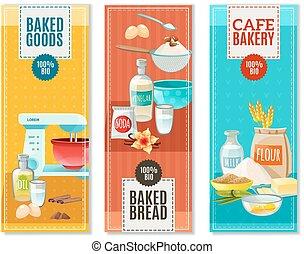 Baking Ingredients Banners