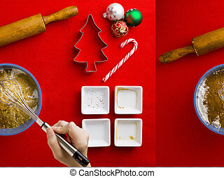 baking ingredients for christmas