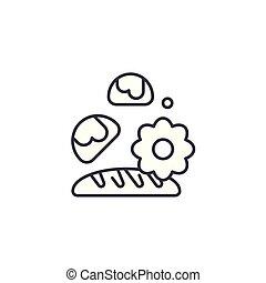 Baking linear icon concept. Baking line vector sign, symbol, illustration.