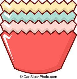 Baking molds icon, cartoon style