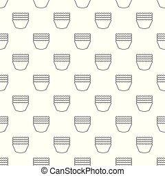 Baking molds pattern vector seamless