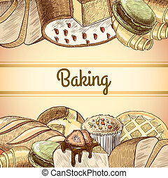 Baking pastry poster