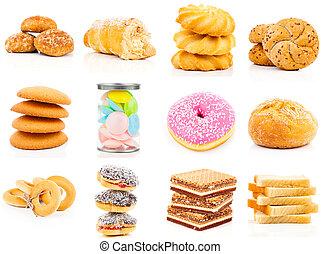 baking set on white background