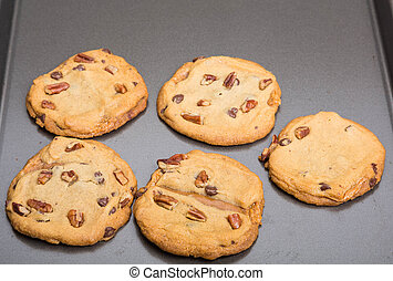 Baking Sheet of Fresh Cookies