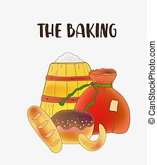 Baking symbols set in color.