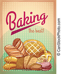 Baking the best pastry poster - Baking the best pastry food...
