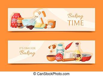 Set of three labels of chocolate, honey and vanilla milk