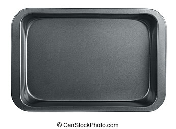 Baking tray - Empty baking tray isolated on white