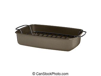 Baking tray isolated on white background