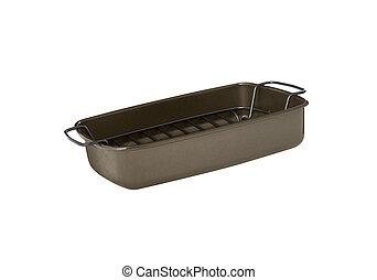 Baking tray isolated on white background
