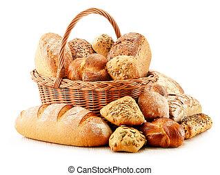 bakken, variëteit, vrijstaand, producten, witte , ...