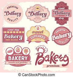 bakkerij, etiketten