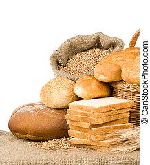 bakkerij, producten, brood