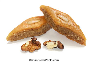 The ramadan sweet baklava and nuts
