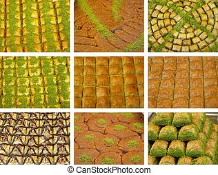 Baklava and shredded wheat varieties images