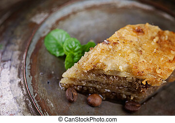 Baklava pastry dessert. Traditional turkish dessert.