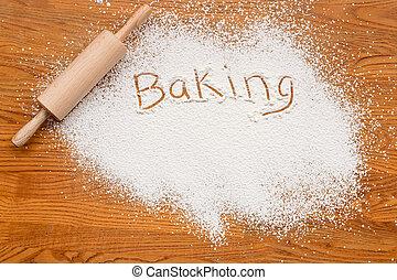 bakning, märka