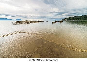 Bako National Park landscape - Beautiful shoreline and ...
