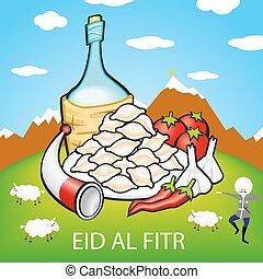 bakra, al, sheep, mubarak, eid, adha, musulmán, goat, ul,...