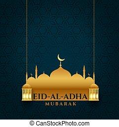 bakrid, atractivo, al, adha, eid, fiesta, plano de fondo