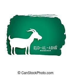 bakrid eid al adha festival background with goat silhouette