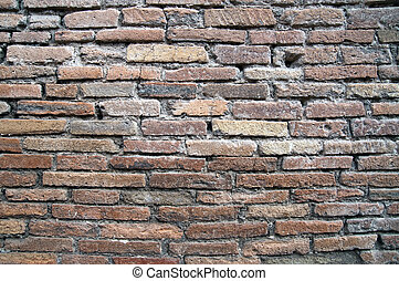 baksteen muur, als, achtergrond