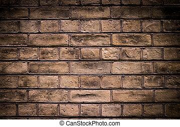 baksteen muur, donker