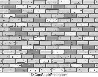 baksteen muur, textuur, seamless