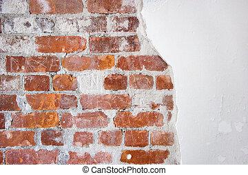 baksteen, pleister