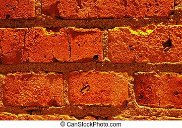 baksteen, rood, wall.