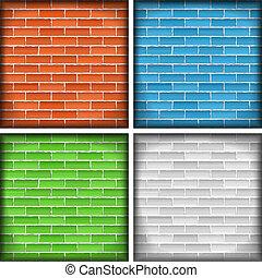 bakstenen muren