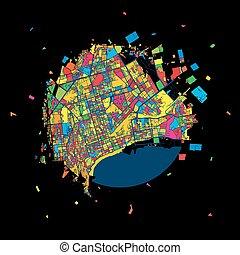 Baku, Azerbaijan, Colorful Artmap