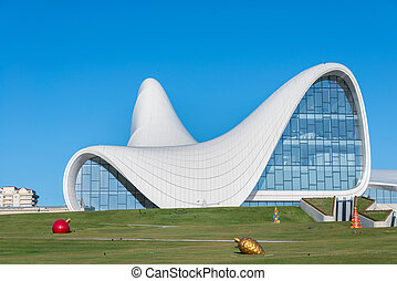 BAKU- DECEMBER 27: Heydar Aliyev Center on December 27, 2014...