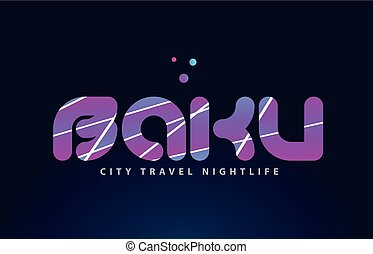 baku european capital word text typography design