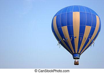 balão ar quente, abertos, para, texto