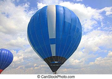 balão azul, ar