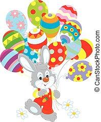 balões, bunny easter