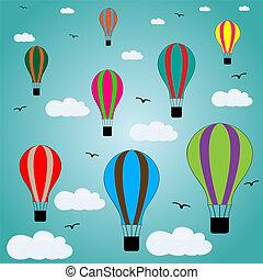 balões, céu, ar