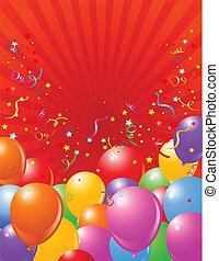 balões, feriado