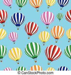 balões, fundo, seamless, térmico
