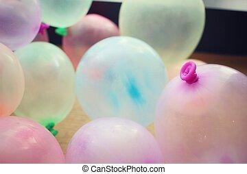 balões, multicolored