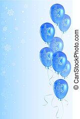 balões, natal, fundo