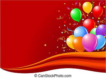 balões, onda