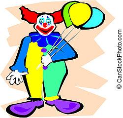 balões, palhaço