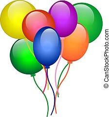 balões, para, partido