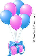 balões, presente
