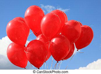 balões, vermelho
